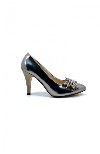 Anthracite Heeled Shoes 9208-01