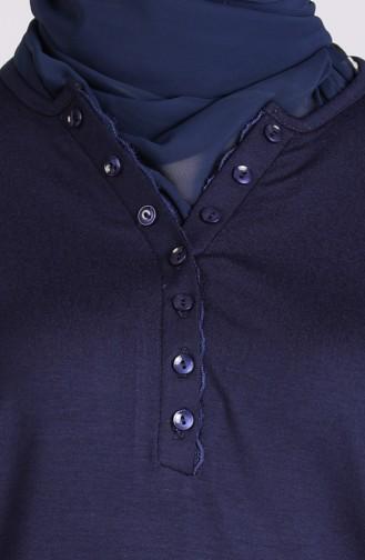 البلايز أزرق كحلي 0313-03