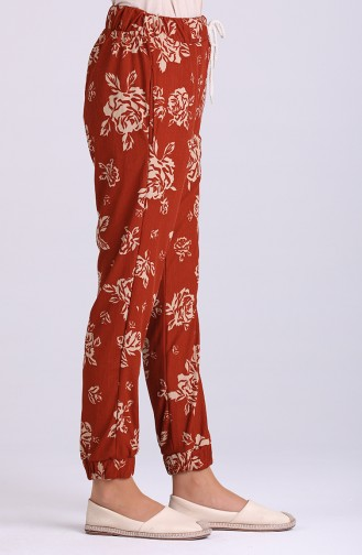 Pantalon Couleur brique 9015-03