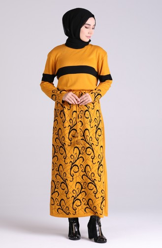 Senf Hijap Kleider 4003-01