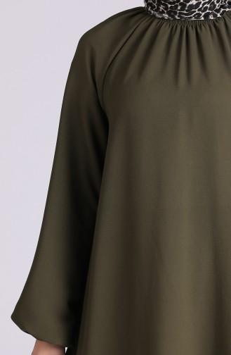فستان كاكي 3210-02