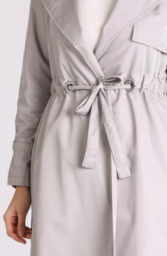 Gray Trench Coats Models 1408-07