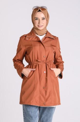 Ziegelrot Trench Coats Models 1474-03