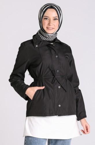 Schwarz Trench Coats Models 1475-01