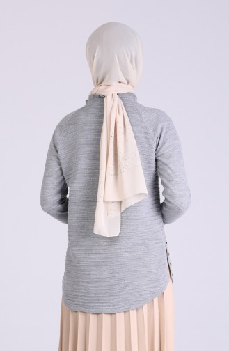 Grau Pullover 1478-08