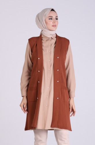 Tobacco Brown Gilet 0804-05