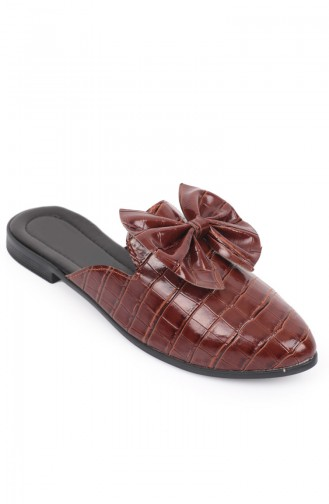 Tobacco Brown Woman home slippers 87032