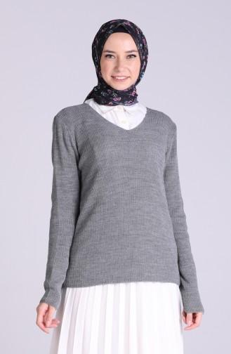 Grau Pullover 6032-02