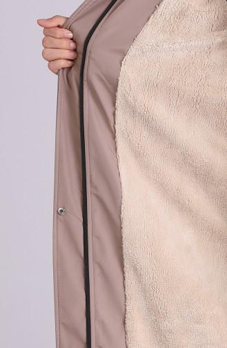 Beige Coats 9055-07