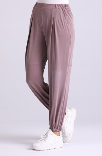 Modal Fabric Elastic Trousers 1315-05 Dried Rose 1315-05