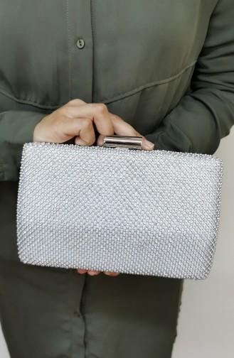 Silbergrau Portfolio Handtasche 776113-208
