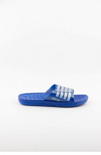 Blue Summer Slippers 2464.MAVI