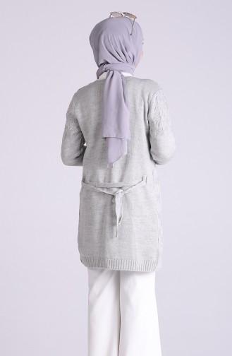 Grau Strickjacke 5023-05
