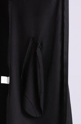 Kapüşonlu Tensel Kap 0222A-02 Siyah