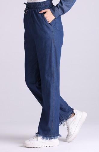 Elastic wide-leg Jeans 2004-03 Navy Blue 2004-03