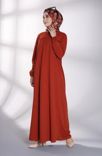 Ziegelrot Hijap Kleider 8146-01