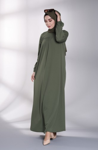 Khaki Hijap Kleider 8146-03