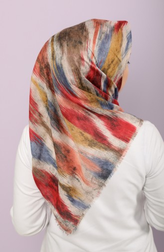 Coral Red Scarf 2661-04