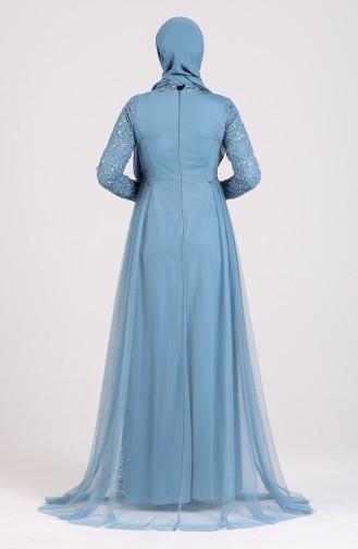 Habillé Hijab Indigo 5348-09