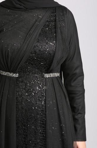 Habillé Hijab Noir 5388-01