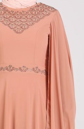 Zwiebelschalen Hijab-Abendkleider 1555-08