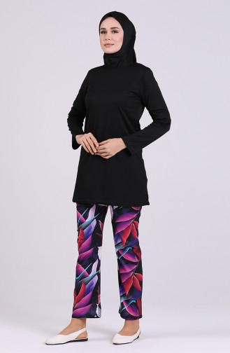 Black Swimsuit Hijab 1009