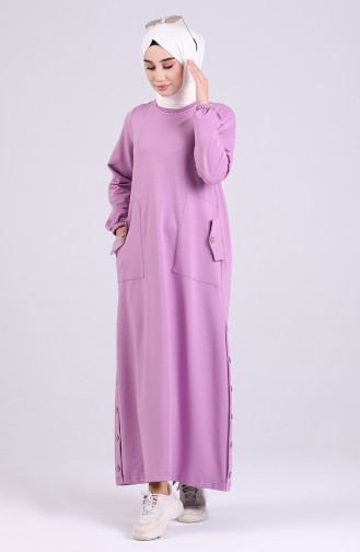 Lilac İslamitische Jurk 8113-03