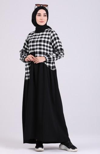 Weiß Hijap Kleider 8121-01