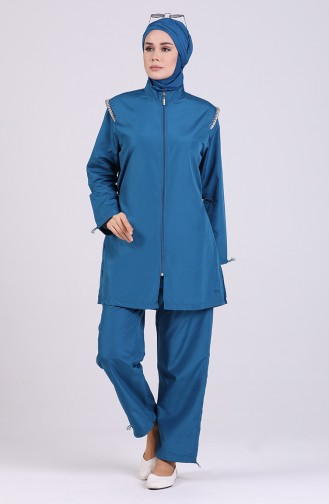 Oil Blue Swimsuit Hijab 20164-03