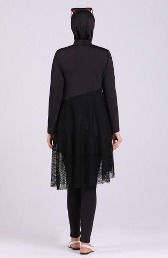 Black Swimsuit Hijab 2035-01