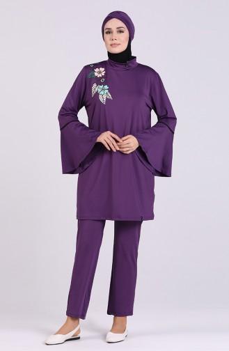 Maillot de Bain Hijab Pourpre 2008-02