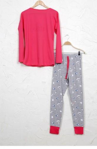 Grau Pyjama 10730041.GRIMELANJ