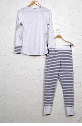 Vienetta Elastan Pamuk Pijama Takım 9040690000 Grımelanj