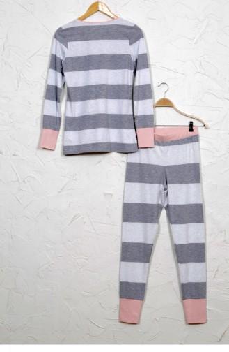 Vienetta Elastan Pamuk Pijama Takım 9040730000 Grımelanj