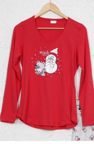 Rot Pyjama 9051226788.KIRMIZI