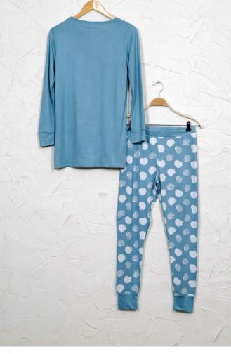 Minzenblau Pyjama 8042063041.KOYUMINT