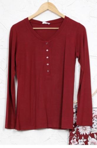 Pyjama Bordeaux 8041033032.BORDO
