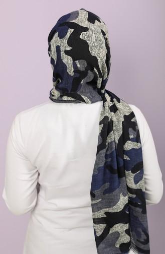 Blau Schal 2663-11