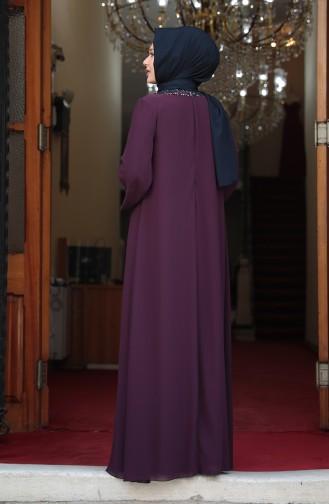 Purple İslamitische Avondjurk 3263-03
