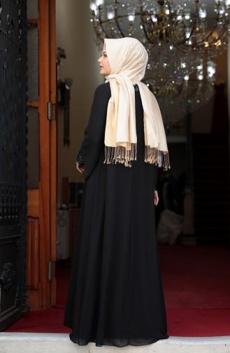 Habillé Hijab Noir 3263-04