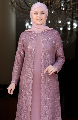 Puder Hijab-Abendkleider 3293-03