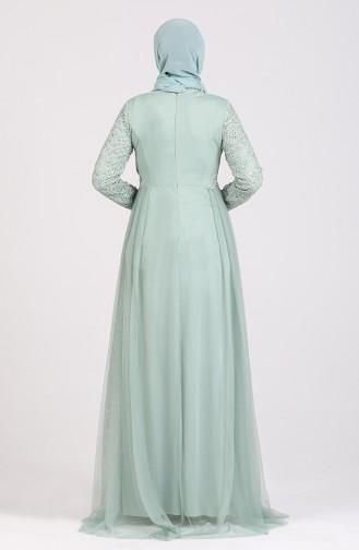 Silvery Evening Dress 5348-05 Sea Green 5348-05