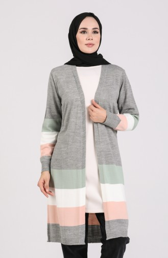 Grau Strickjacke 4014-02