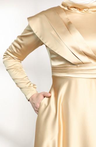 Gold Hijab-Abendkleider 4832-01