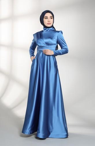 Habillé Hijab Bleu Foncé 4832-04