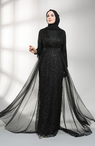 Schwarz Hijab-Abendkleider 5390-04