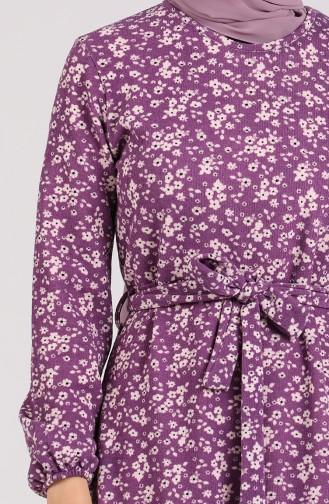 Lila Hijap Kleider 1015-02