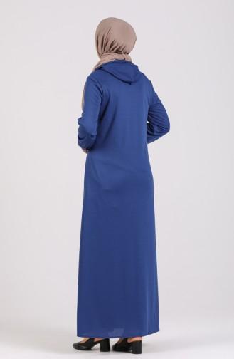Saxon blue Abaya 2095-09