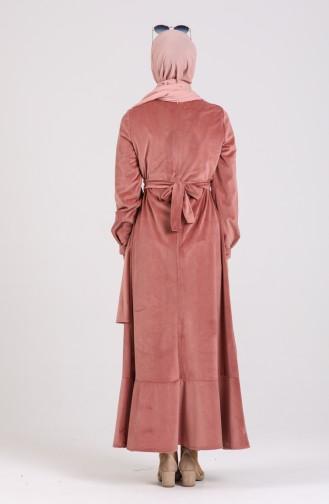 Beige-Rose Hijap Kleider 0107-02