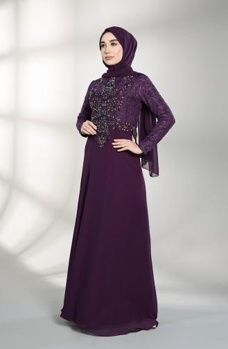 Habillé Hijab Pourpre 4709-01